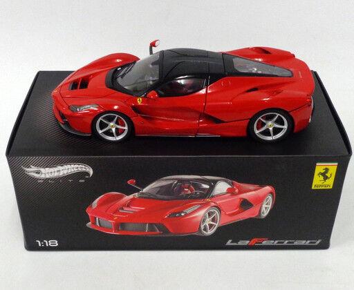 Ferrari 1 18 Hot Ruedas Elite Modelo la Ferrari 2013 Rojo L. Edición Mattel New