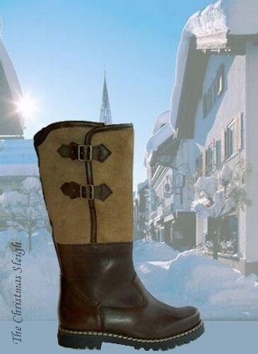 dirndl + bua Austrian Men's Alpine Brown Leather Boots Handmade High Quality