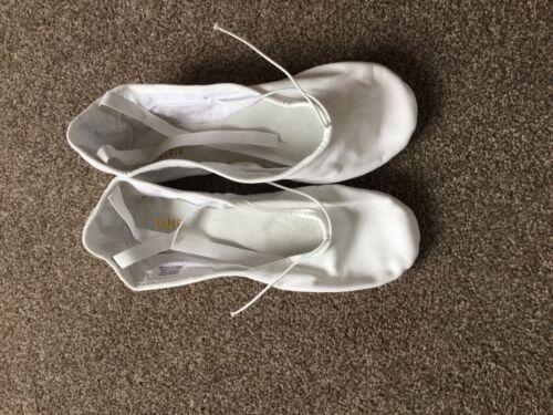 Bloch Split Sole Ballet Chaussures Blanc Entièrement neuf dans sa boîte taille 8 L