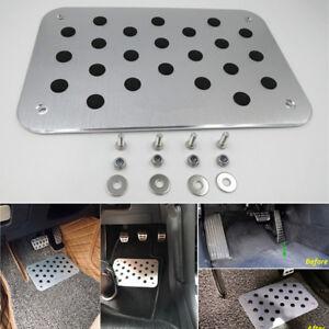 Universal Car Aluminum Floor Carpet Mats Scuff Guard Pedal