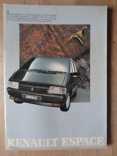 RENAULT ESPACE orig 1988 UK Mkt Sales Brochure