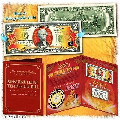 FLAG SERIES $2 Two-Dollar U.S CHINA Genuine Legal Tender Bank Note Bill