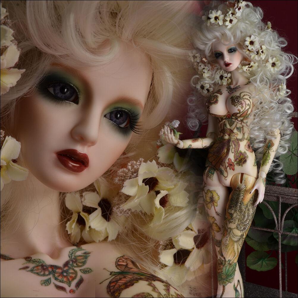 QQ-21D dark brown  Mohair Wig BJD Doll hair 1//12;1//6; 1//4;1//3