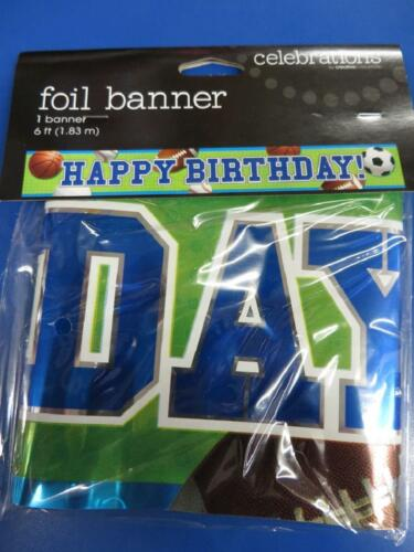 Celebrate Sports All Star Kids Birthday Party Hanging Decoration Foil Banner