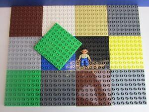 1x DUPLO LEGO plaque de base Board 8x8 Clou ville ferme zoo château rouge vert  </span>