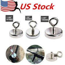 5PCS Super Strong Rare Earth Round Neodymium River Fishing Magnet Eyebolt