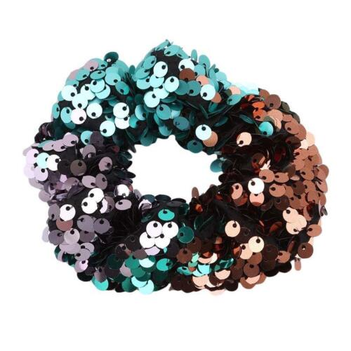 Women Scrunchie Sequin Hair Band Rope Elastic Tie Ponytail Holder Hair Ring YD