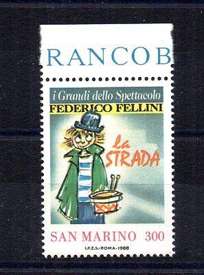 Europa Sparsam Repubblica San Marino 1988 Federico Fellini 300 Lire Unif Briefmarken 1233 Mnh** Bdf GläNzend