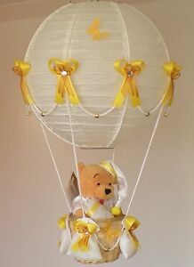 Image Is Loading WINNIE THE POOH In Hot Air Balloon Lamp