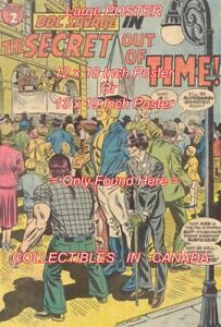 DOC-SAVAGE-1974-Secret-Out-Of-Time-POSTER-Not-Comic-Book-2-SIZES-18-034-or-19-034