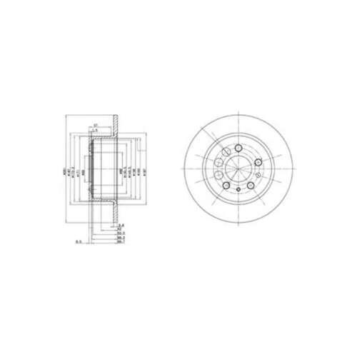 Genuine Delphi Arrière Solid Disques De Frein Lot Paire-BG2103
