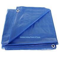 12' X 24' Blue Poly Tarp Free Shipping
