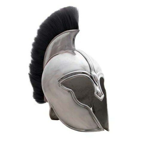 New Replica Greek Trojan Spartan Achilles Armor Helmet with Horse Hair Plume