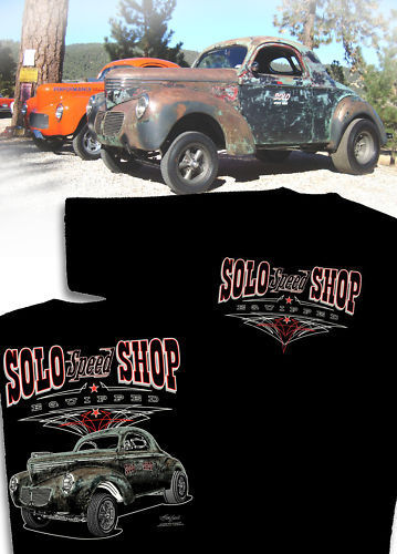 1940 1941 Vintage Drag Racing SOLO Speed Shop Willys Gasser Patina T-Shirt