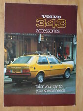 VOLVO 343 DL 1976-77 UK Mkt Accessories Brochure