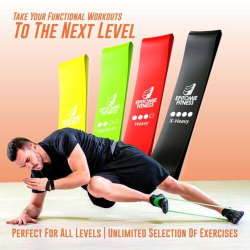 Premium Natural Latex Fitness Bands Resistance Bands Set of 4