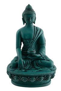 Budda Shakyamuni Soprammobile Tibetano IN Resina Turchese 11cm 5180