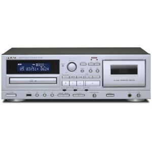 TEAC-AD-850-CD-Cassettes-Tape-Player-USB-Microphone-input-Fast-Shipp-Japan-EMS