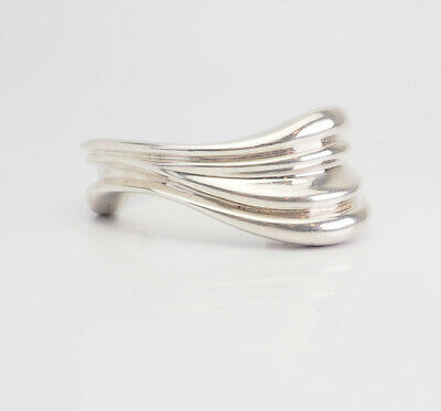Vintage sterling silver abstract cuff bracelet