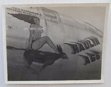 1950'S PHOTO...KOREAN WAR NOSE ART,TOPLESS LADY,DONKEY,HOULIN ASS ,YOKOTA JAPAN