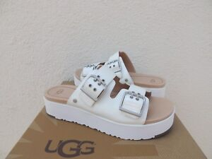 dbe70e1f86d Details about UGG CAMMIE WHITE PATENT LEATHER PLATFORM SLIDE SANDALS, US 9/  EUR 40 ~NIB