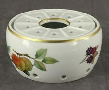English China Royal Worcester EVESHAM Gold Trim Fruit 2PC Lot WARMER STAND