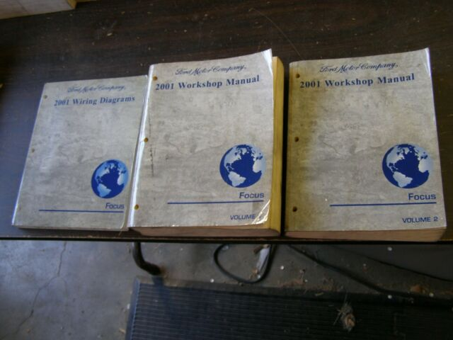Oem Ford 2001 Focus Shop Manuals Books   Wiring Diagram Nos