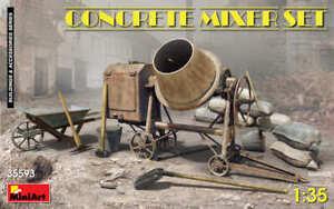 Miniart-35593-1-35-Concrete-Mixeur-Jeu-Betonnieres-Jeu-Neuf