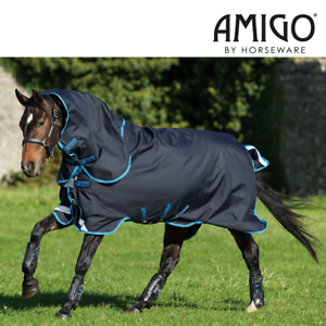 Horseware Amigo Bravo 12 Plus Turnout Rug Bundle with Disc Front (Dark Navy Elec