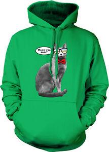 Details about Meow You Doin Cat Sunglasses Bow Tie Cool Doing Wearing Joke  Hoodie Sweatshirt