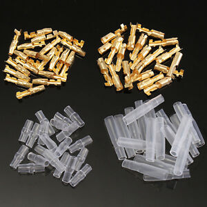 20-50x-Cosse-Connecteur-Voiture-Brass-Bullet-Male-amp-Female-Wire-Connector-3-9mm