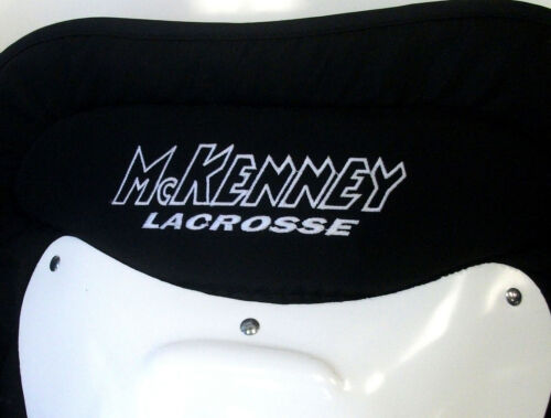 "New Mckenney LG9000 22/"" box indoor lacrosse goalie shin leg guards category #3"