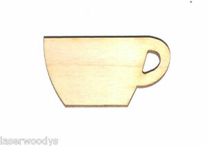 Coffee-Cup-Unfinished-Flat-Wood-Shape-Cut-Out-Variety-Szs-CC161-Crafts