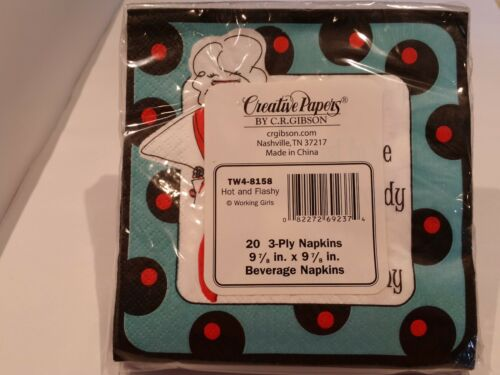 C.R.Gibson Working Girls Novelty Cocktail Paper Napkins-8 Designs Birthday Party