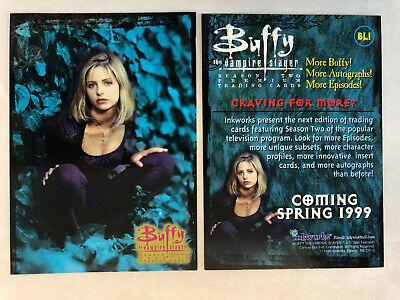 CHEAP PROMO CARD BUFFY SEASON 3 Inkworks 1999 #B3-4 ONE SHIP FEE PER ORDER