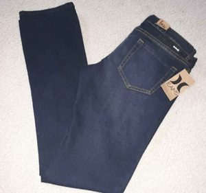 HURLEY-Women-039-s-Tall-Jr-Jeans-32X34-69-Skinny-Boot-Dark-Blue-Denim-Jeans-New-NWT