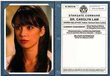 Stargate SG-1 Season 8 Personnel Files Chase Card PF9 - Dr. Carolyn Lam