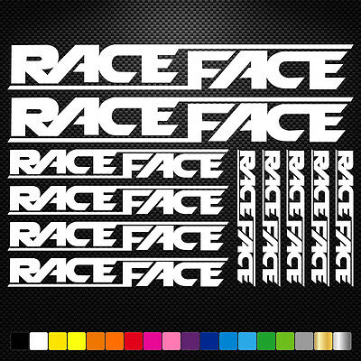 Race Face Vinyl Decals Stickers Sheet Bike Frame Cycle Cycling Bicycle Mtb Road