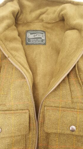 Sizes S M L XL British Country Collection Boy Check Tweed Fleece Lined Jacket