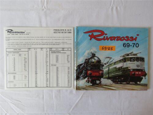 Rivarossi Gesamtkatalog Modelleisenbahn HO Katalog 1969-70 mit Preisliste