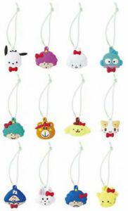 Sanrio Hello Kitty 12pc Green Trinkets 50th Anniversary Pochacco Hangyodon