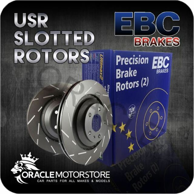 NEW EBC USR SLOTTED FRONT DISCS PAIR PERFORMANCE DISCS OE QUALITY - USR1220