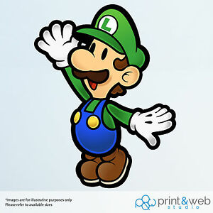 Paper Mario Sticker Wall Decal Bedroom Vinyl Kids Art Decor Bedroom