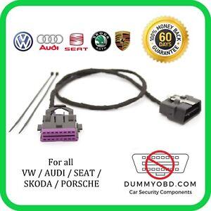 Details about VW AUDI SKODA SEAT PORSCHE DUMMY OBD PORT Anti Theft Security  OBD2 GUARD / BLOCK