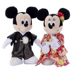 Bridal Mickey & Minnie Mouse Wedding doll set Kimono Welcome figurin ...