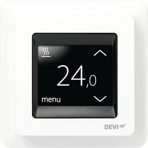 devireg touch thermostat f r elektrische fu bodenheizung temperaturregler. Black Bedroom Furniture Sets. Home Design Ideas