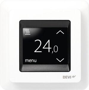 devireg touch thermostat f r elektrische fu bodenheizung temperaturregler ebay. Black Bedroom Furniture Sets. Home Design Ideas