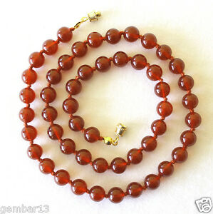 Carnelian-Necklace-8mm-Hand-Knotted-Genuine-Natural-8-mm-Carnelian-Beads-Red