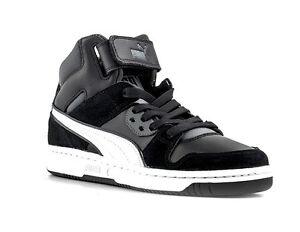PUMA REBOUND STREET SD JR scarpe donna alte sneakers mid running sportive nero
