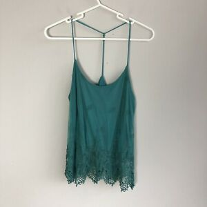 Urban-Outfitters-Pins-and-Needles-Women-039-s-Size-S-Small-Green-Lace-Tank-Top
